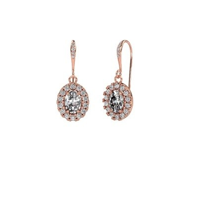 Picture of Drop earrings Jorinda 2 375 rose gold zirconia 7x5 mm