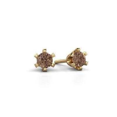 Bild von Ohrsteckers Shana 375 Gold Braun Diamant 0.50 crt