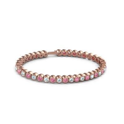 Foto van Tennisarmband Mellisa 750 rosé goud roze saffier 3.5 mm