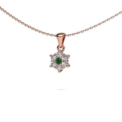 Picture of Necklace Chantal 585 rose gold emerald 2.4 mm