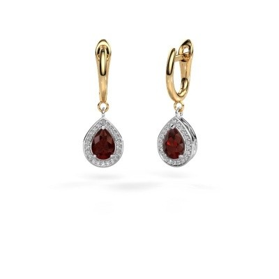 Picture of Drop earrings Ginger 1 585 white gold garnet 7x5 mm
