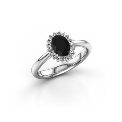 Bild von Verlobungsring Tilly 1 585 Weissgold Schwarz Diamant 1.095 crt