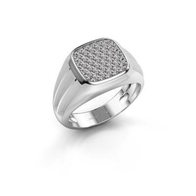 Foto van Pinkring Robbert 950 platina diamant 0.558 crt