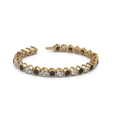 Foto van Tennisarmband Mandi 375 goud zwarte diamant 15.40 crt