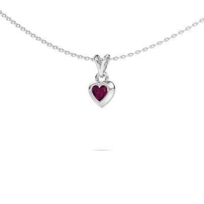 Picture of Pendant Charlotte Heart 375 white gold rhodolite 4 mm