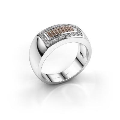 Foto van Mannen ring Lorenzo 925 zilver bruine diamant 0.52 crt
