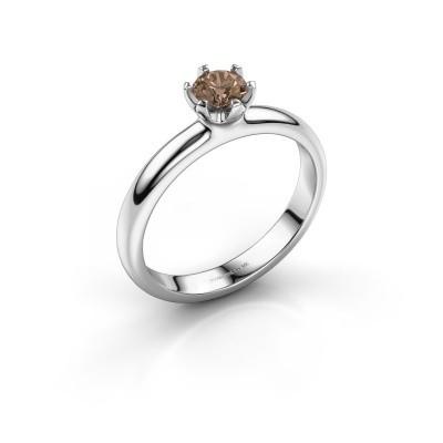 Foto van Verlovingsring Lorretta 375 witgoud bruine diamant 0.40 crt