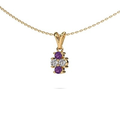 Picture of Necklace Richelle 375 gold amethyst 3 mm