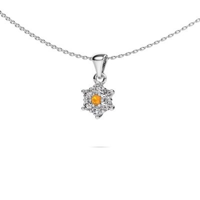 Picture of Necklace Chantal 585 white gold citrin 2.4 mm
