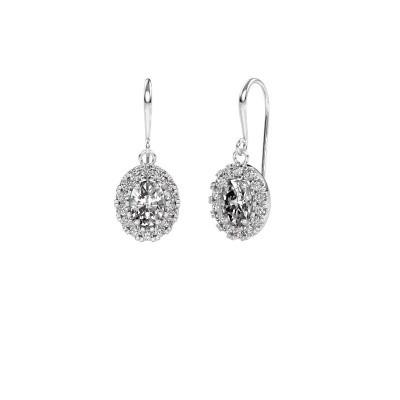 Picture of Drop earrings Jorinda 1 950 platinum zirconia 7x5 mm