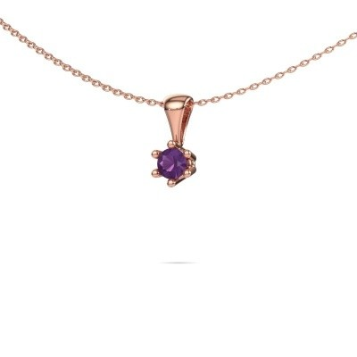 Picture of Necklace Fay 585 rose gold amethyst 4 mm