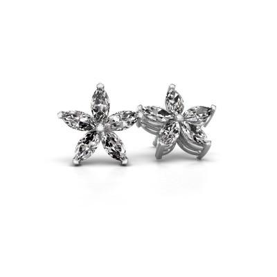 Bild von Ohrsteckers Sylvana 950 Platin Diamant 1.40 crt