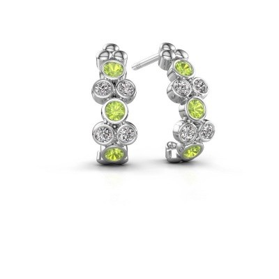 Picture of Earrings Kayleigh 925 silver peridot 2.4 mm