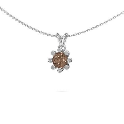 Picture of Pendant Carola 2 950 platinum brown diamond 0.82 crt