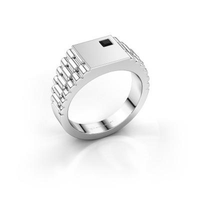 Foto van Rolex stijl ring Pelle 585 witgoud zwarte diamant 0.204 crt