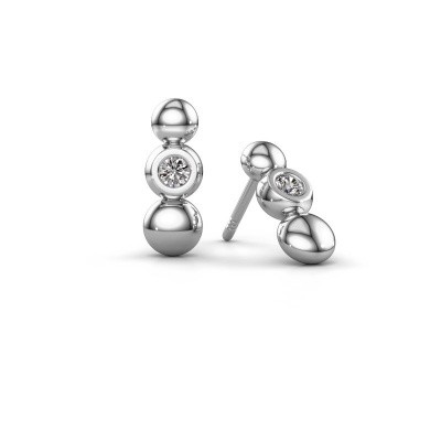 Picture of Earrings Lily 925 silver zirconia 2.5 mm