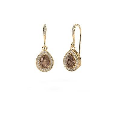 Bild von Ohrhänger Beverlee 2 750 Gold Braun Diamant 1.435 crt