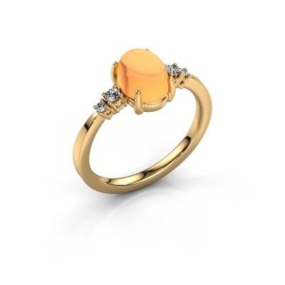 Ring Jelke 585 goud citrien 8x6 mm
