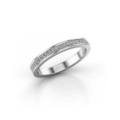 Picture of Stackable ring SRH0030B20H4 585 white gold diamond 0.173 crt