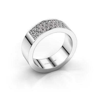 Foto van Ring Lindsey 5 950 platina diamant 0.46 crt