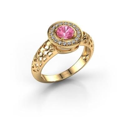 Foto van Ring Katalina 585 goud roze saffier 5 mm