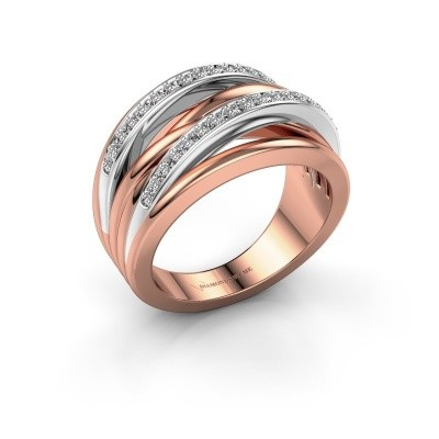 Foto van Ring Annabel 2 585 rosé goud diamant 0.24 crt