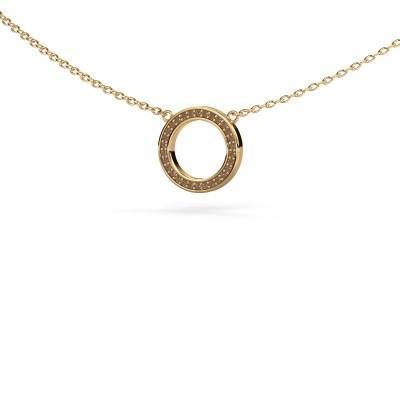 Bild von Anhänger Round 1 585 Gold Braun Diamant 0.075 crt