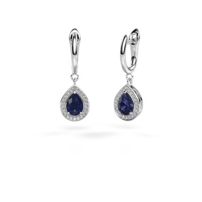 Picture of Drop earrings Ginger 1 950 platinum sapphire 7x5 mm