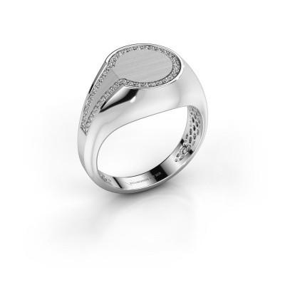 Foto van Heren ring Gijs 375 witgoud diamant 0.22 crt