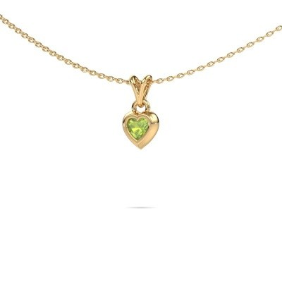 Picture of Pendant Charlotte Heart 585 gold peridot 4 mm