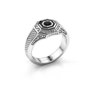 Foto van Heren ring Dion 925 zilver zwarte diamant 0.30 crt