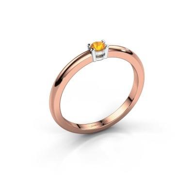 Foto van Verlovingsring Michelle 1 585 rosé goud citrien 2.7 mm
