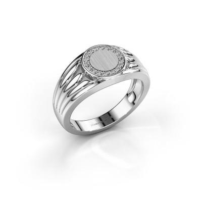 Foto van Pinkring Jacobus 925 zilver zirkonia 1.2 mm