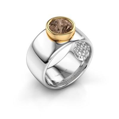 Picture of Ring Klarinda 585 white gold brown diamond 1.30 crt