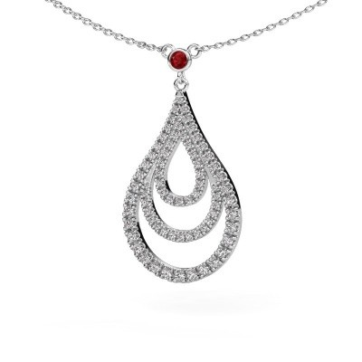 Picture of Pendant Delpha 585 white gold ruby 1.4 mm