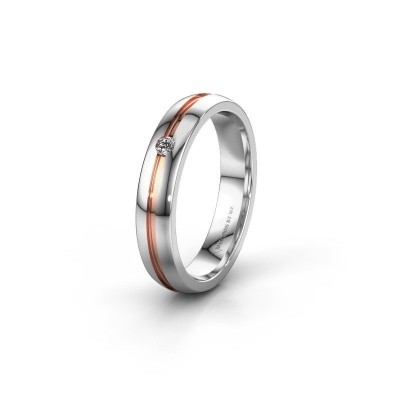 Trouwring WH0424L24A 585 witgoud diamant ±4x1.7 mm