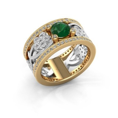 Foto van Ring Severine 585 goud smaragd 6 mm