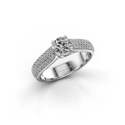 Foto van Verlovingsring Leoness 585 witgoud diamant 0.915 crt