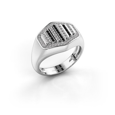 Foto van Heren ring Beau 585 witgoud diamant 0.408 crt