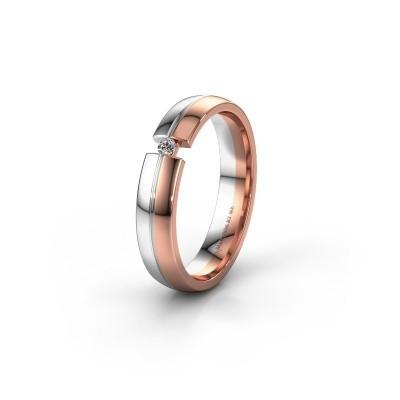 Trouwring WH0254L24X 585 rosé goud diamant ±4x1.5 mm
