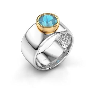 Picture of Ring Klarinda 585 white gold blue topaz 7 mm