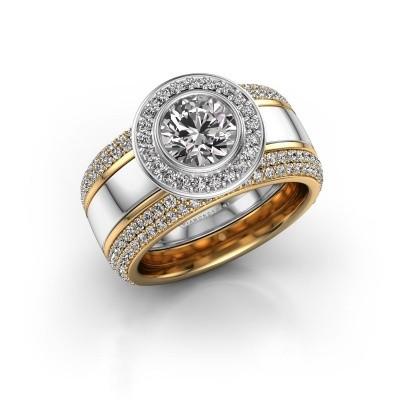 Foto van Ring Roxie 585 witgoud diamant 2.06 crt