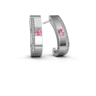 Picture of Earrings Vick1 925 silver pink sapphire 2.4 mm