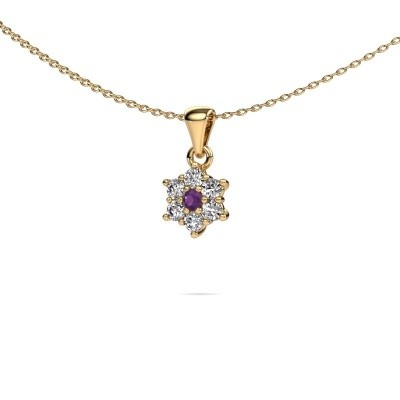 Picture of Necklace Chantal 375 gold amethyst 2.4 mm