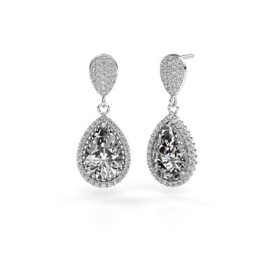 Picture of Drop earrings Cheree 2 585 white gold diamond 6.690 crt