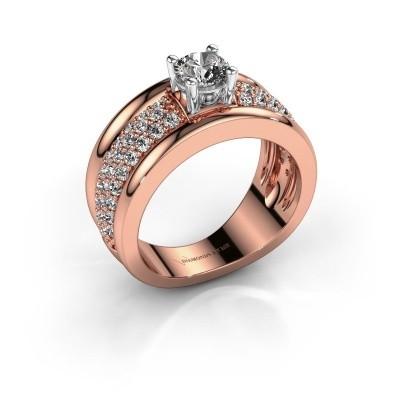 Foto van Ring Alicia 585 rosé goud lab created 1.31 crt