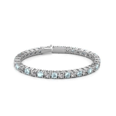 Picture of Tennis bracelet Ming 750 white gold lab created 17.00 crt