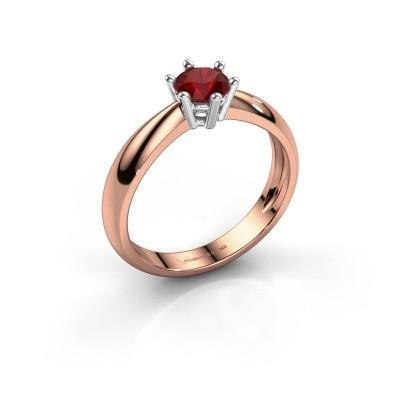 Foto van Verlovingsring Fay 585 rosé goud robijn 5 mm