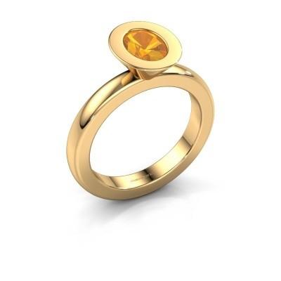 Ring Sindy Oval 585 goud citrien 7x5 mm