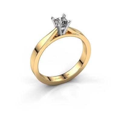 Foto van Aanzoeksring Catrina 585 goud diamant 0.25 crt